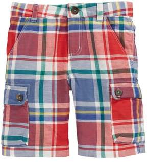 Boden Mini Plaid Cargo Shorts
