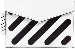 Off-White Diagonal Stripes Leather Card Holder