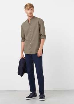 Mango Outlet Slim-fit mao collar shirt
