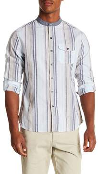Michael Bastian Colorblock Stripe Regular Fit Shirt