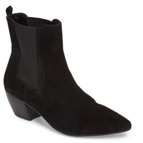 Topshop Women's Bounty Suede Pointy Toe Bootie