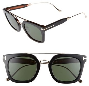 Tom Ford Men's Alex 51Mm Sunglasses - Black/ Other / Green