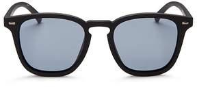 Le Specs No Biggie Polarized Square Sunglasses, 49mm