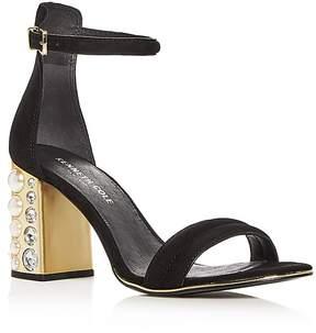 Kenneth Cole Women's Luisa Suede Embellished Block Heel Sandals