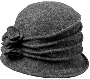 Scala Women's LW497 Knit Hat Cloche with Self Flower