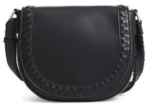 Sole Society Clovey Faux Leather Saddlebag - Black