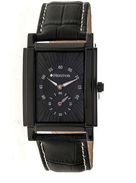 Heritor Frederick Mens Black Strap Watch-Herhr6106