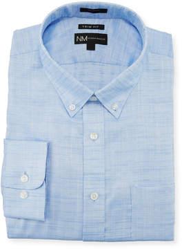 Neiman Marcus Trim-Fit Regular-Finish Slub Texture Dress Shirt