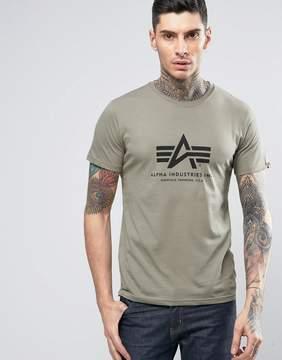 Alpha Industries Logo T-Shirt Regular Fit in Green