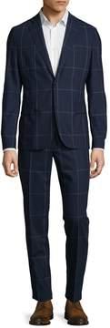 J. Lindeberg Men's Hopper Windowpane Notch Lapel Suit