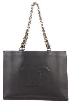 Chanel Logo Lambskin Tote