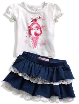 GUESS Short-Sleeve Tee and Skirt Set (0-24M)