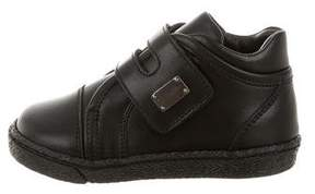 Dolce & Gabbana Boys' Leather High-Top Sneakers w/ Tags