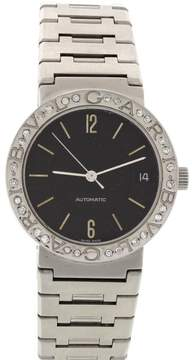 Bulgari Stainless Steel Automatic Diamonds Mens Watch