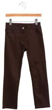Jacadi Girls' Mid-Rise Straight-Leg Pants