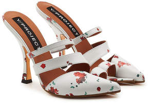 Y/Project Open Toe Printed Leather Mules