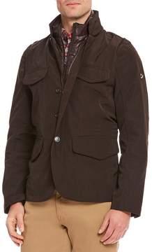 Daniel Cremieux Folsom Nylon Water-Repellent Full-Zip Field Jacket