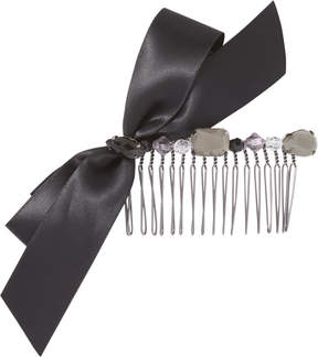 Elle Side Comb with Black Ribbon