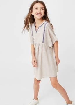 MANGO Metallic thread dress