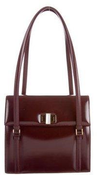 Lalique Glazed Leather Shoulder Bag