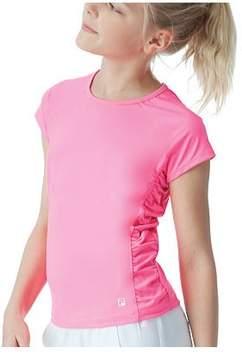 Fila Girls' Cap Sleeve Ruched Top