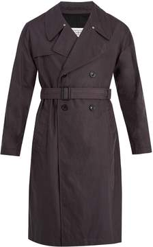 Maison Margiela Double-breasted waxed-cotton trench coat