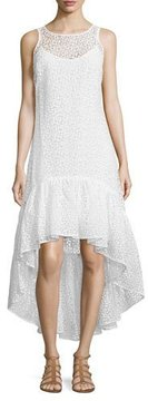 Erin Fetherston Trianon Sleeveless Floral-Print Gown, Ivory/Multi