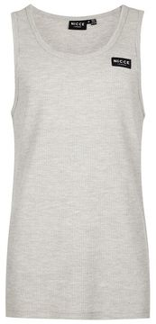 Nicce Gray Waffle Textured Tank Top