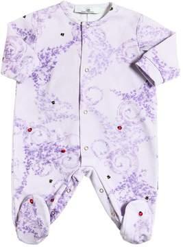 Versace Ladybug & Ivy Print Cotton Jersey Romper