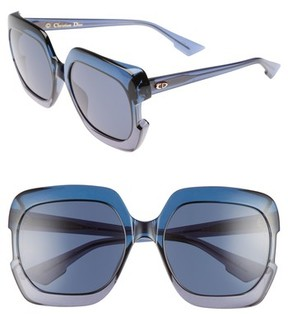 Christian Dior Women's Gaia 58Mm Square Sunglasses - Blue