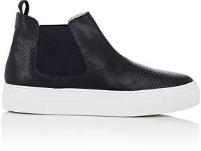 Emporio Armani Men's Stamped Leather Chelsea Sneakers
