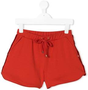 Elisabetta Franchi La Mia Bambina frayed detail shorts