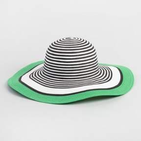 World Market Black, White and Green Sun Hat