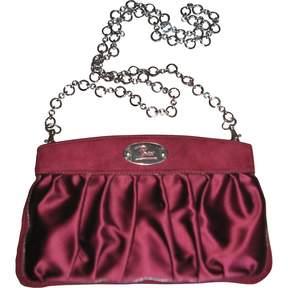 Emilio Pucci Burgundy Silk Handbag