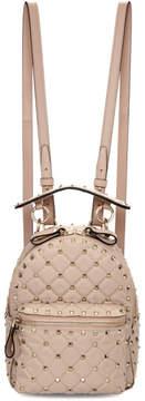 Valentino Pink Garavani Mini Nylon Rockstud Backpack