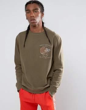 MHI Embroidered Crouching Timer Crew Neck Sweatshirt