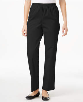Alfred Dunner Twill Pull-On Pants