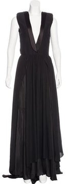 Boy By Band Of Outsiders Satin-Trimmed Evening Dress
