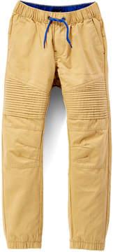 DKNY Khaki Motto Pin Tuck Joggers - Toddler & Boys