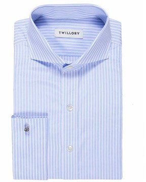 Twillory Poplin Tailored Fit French Cuff Dress Shirt.