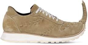 Loewe 20mm Pointed Suede Sneakers