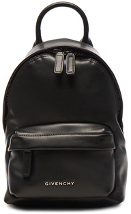 Givenchy Nano Smooth Leather Backpack in Black.