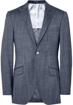 Richard James Blue Seishin Slim-Fit Wool And Silk-Blend Suit Jacket