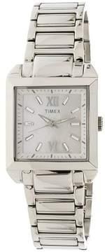 Timex Women's Style Premium T2P404 Silver Stainless-Steel Quartz Fashion Watch