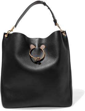 J.W.Anderson - Hobo Pierce Textured-leather Shoulder Bag - Black
