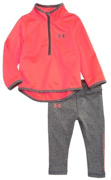 Under Armour Infant Girl's Teamster Half-Zip Track Jacket & Leggings Set