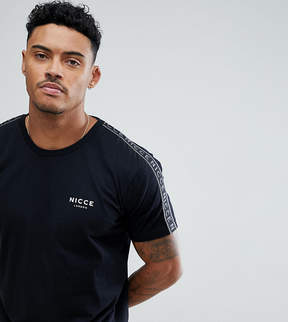 Nicce London t-shirt with side stripes exclusive to asos