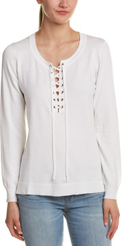 Central Park West Lace-Up Pullover