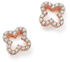 Bloomingdale's Diamond Clover Stud Earrings in 14K Rose Gold, .20 ct. t.w. - 100% Exclusive