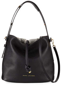 Marc Jacobs Pebbled Leather Hobo Bag - NATURAL - STYLE